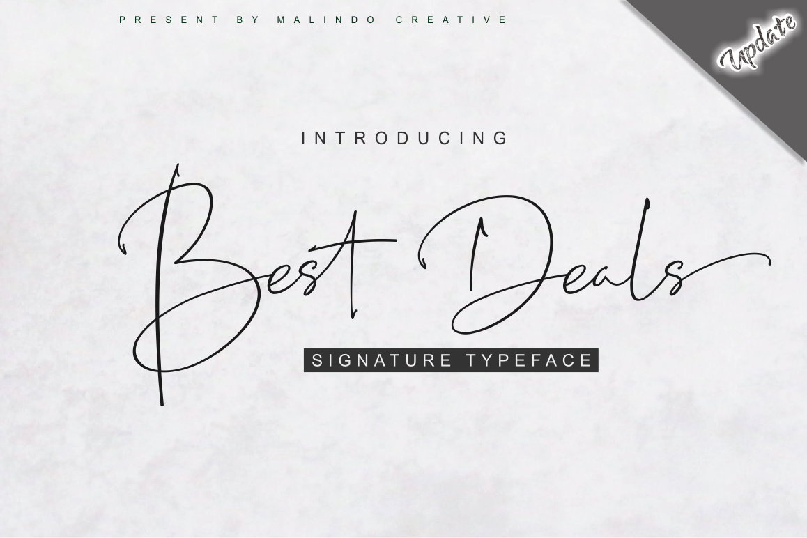 Best Deals | Signature Typeface example image 1