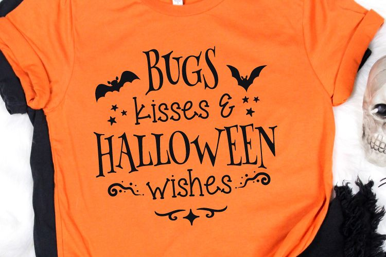 Bugs Kisses and Halloween Wishes Svg, Halloween Svg example image 1