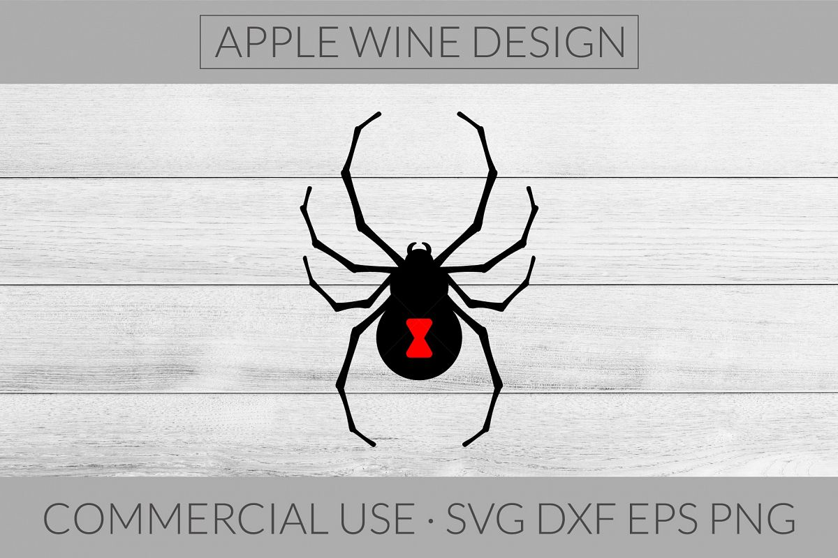 Black Widow Spider SVG DXF PNG EPS Cutting File example image 1
