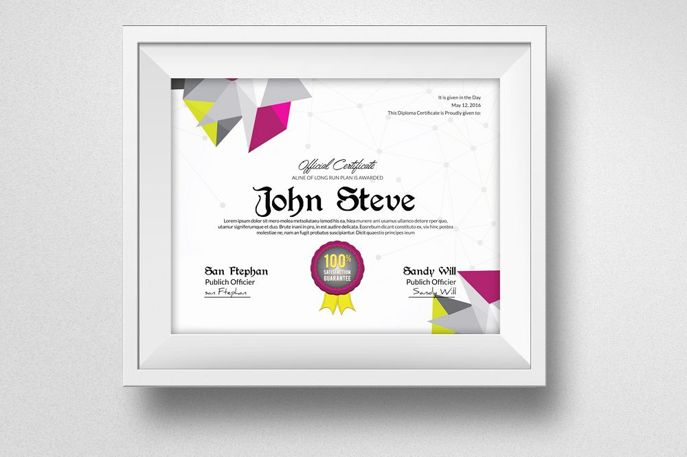 Diploma Certificate  example image 1