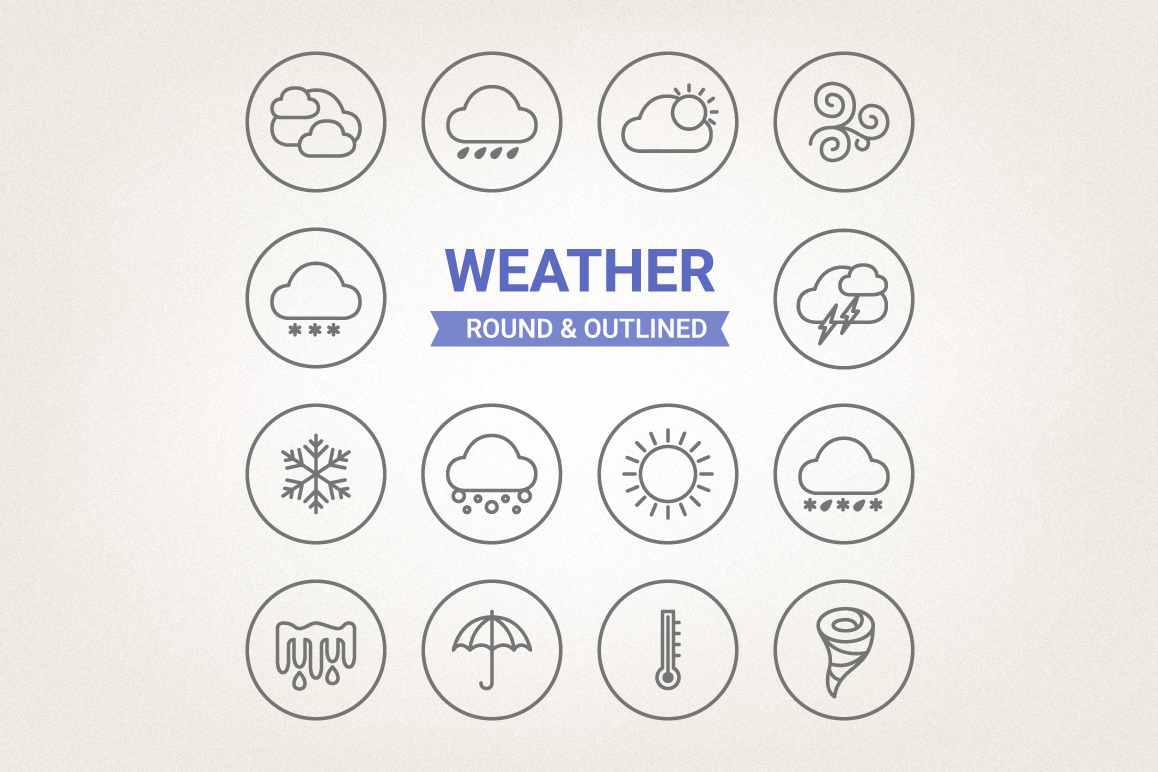 Circle Weather Icons example image 1