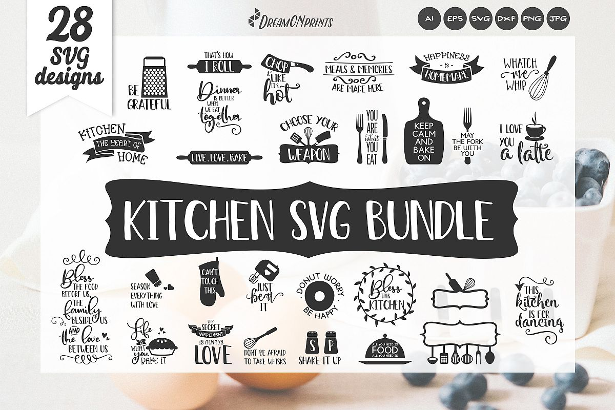 Kitchen SVG Bundle - Kitchen Sign Making SVG example image 1