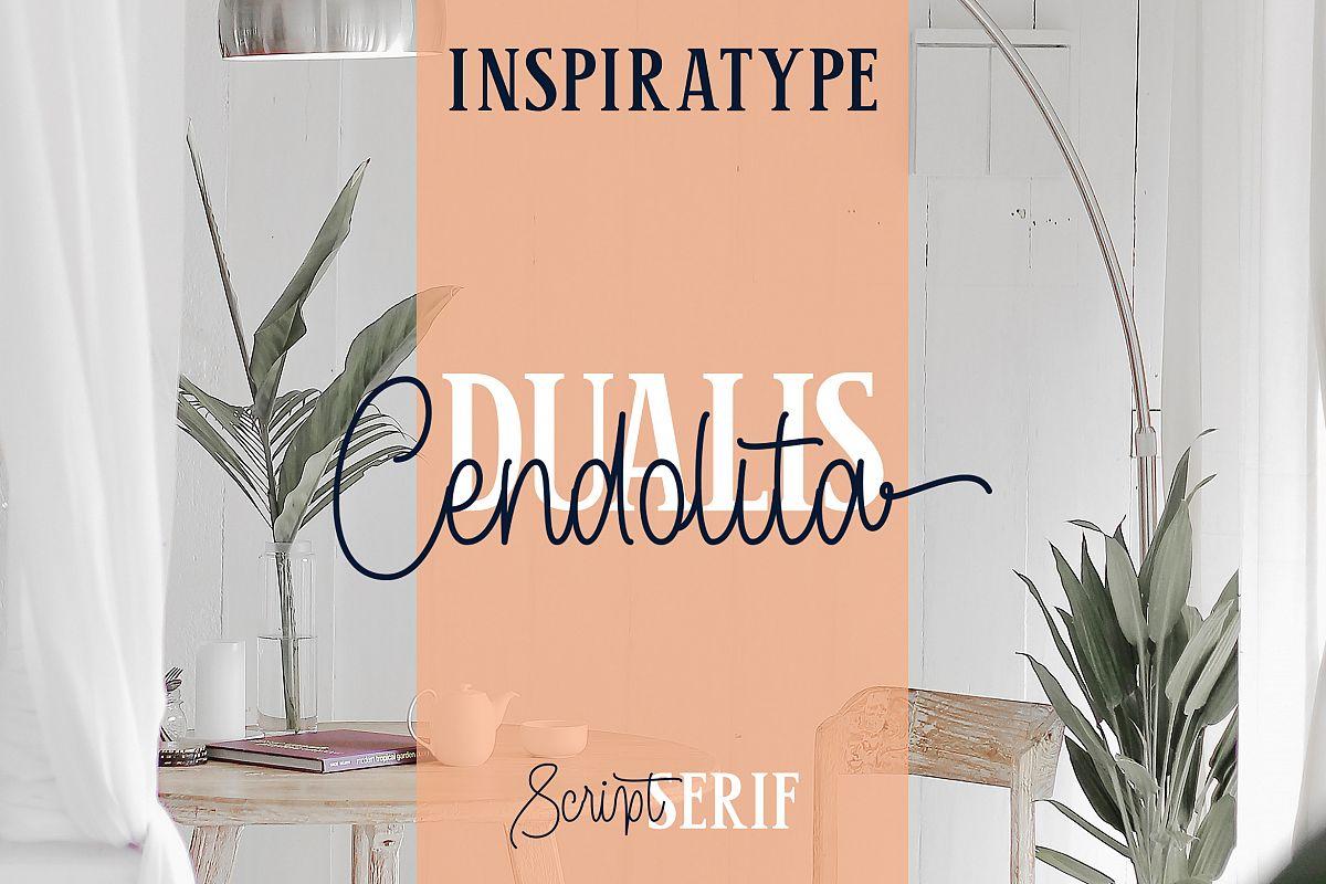Cendolita Dualis - Script and Serif example image 1