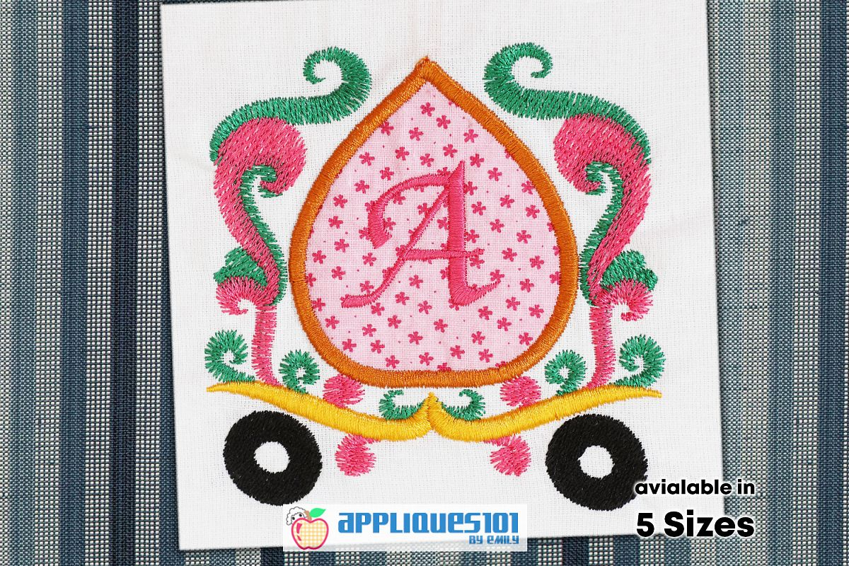 Marriage Baggi Machine Embroidery Applique Design - Baggis example image 1