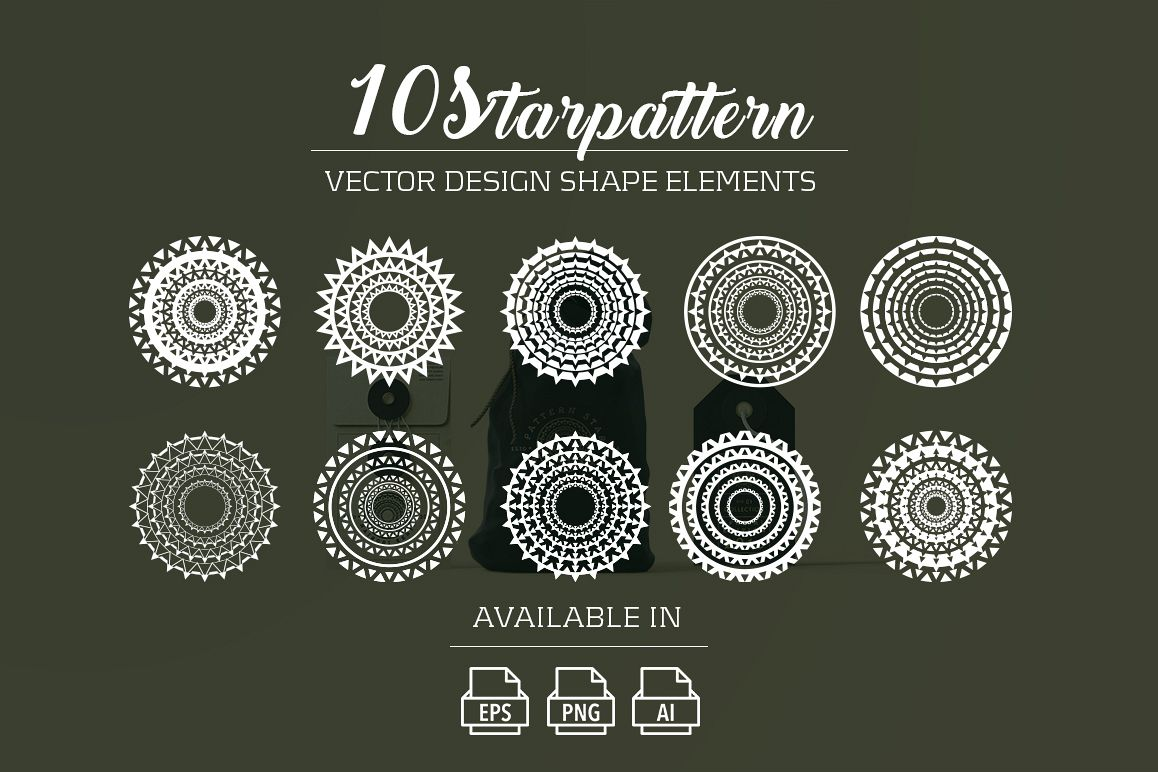 10 starpattern vector shape elements example image 1