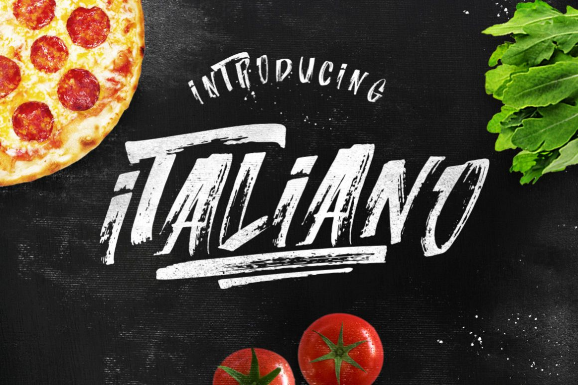 ITALIANO Brush Font +Extras example image 1