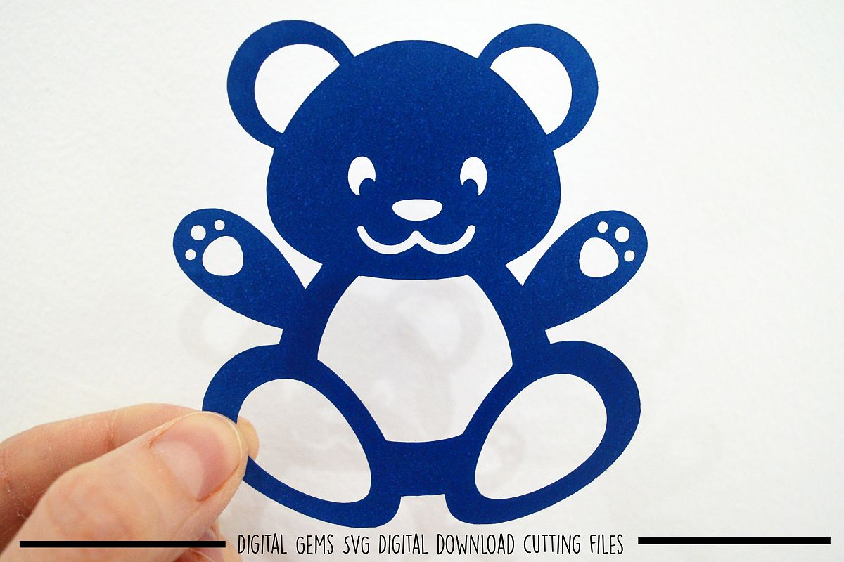 Bear paper cut SVG / DXF / EPS files example image 1