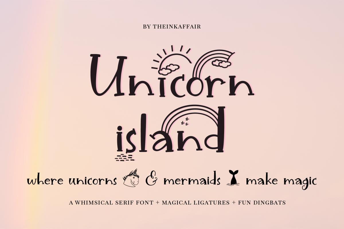 Unicorn Island Font and Dingbats example image 1