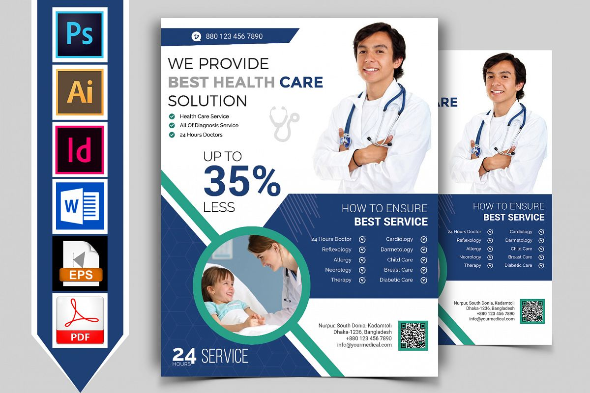 Doctor & Medical Flyer. Vol-02 example image 1