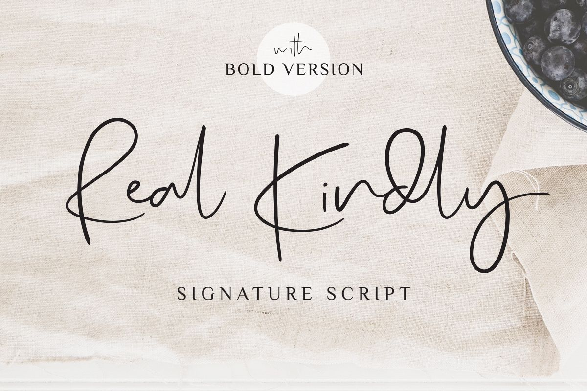 Real Kindly - Elegant Script example image 1