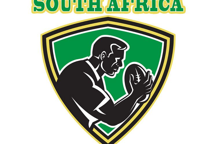 Rugby player South Africa shield example image 1