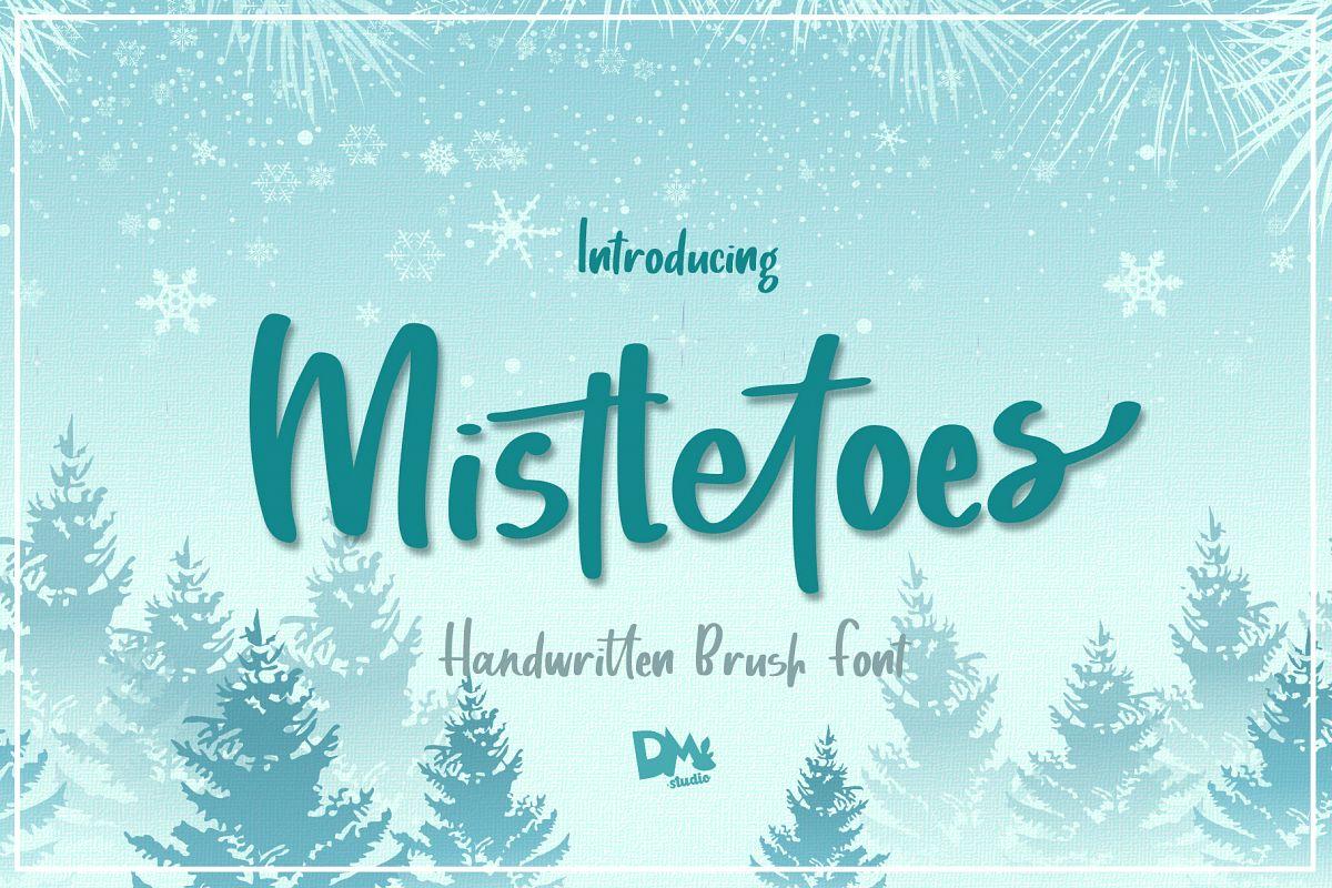 Mistletoes - Handwritten Brush Font example image 1