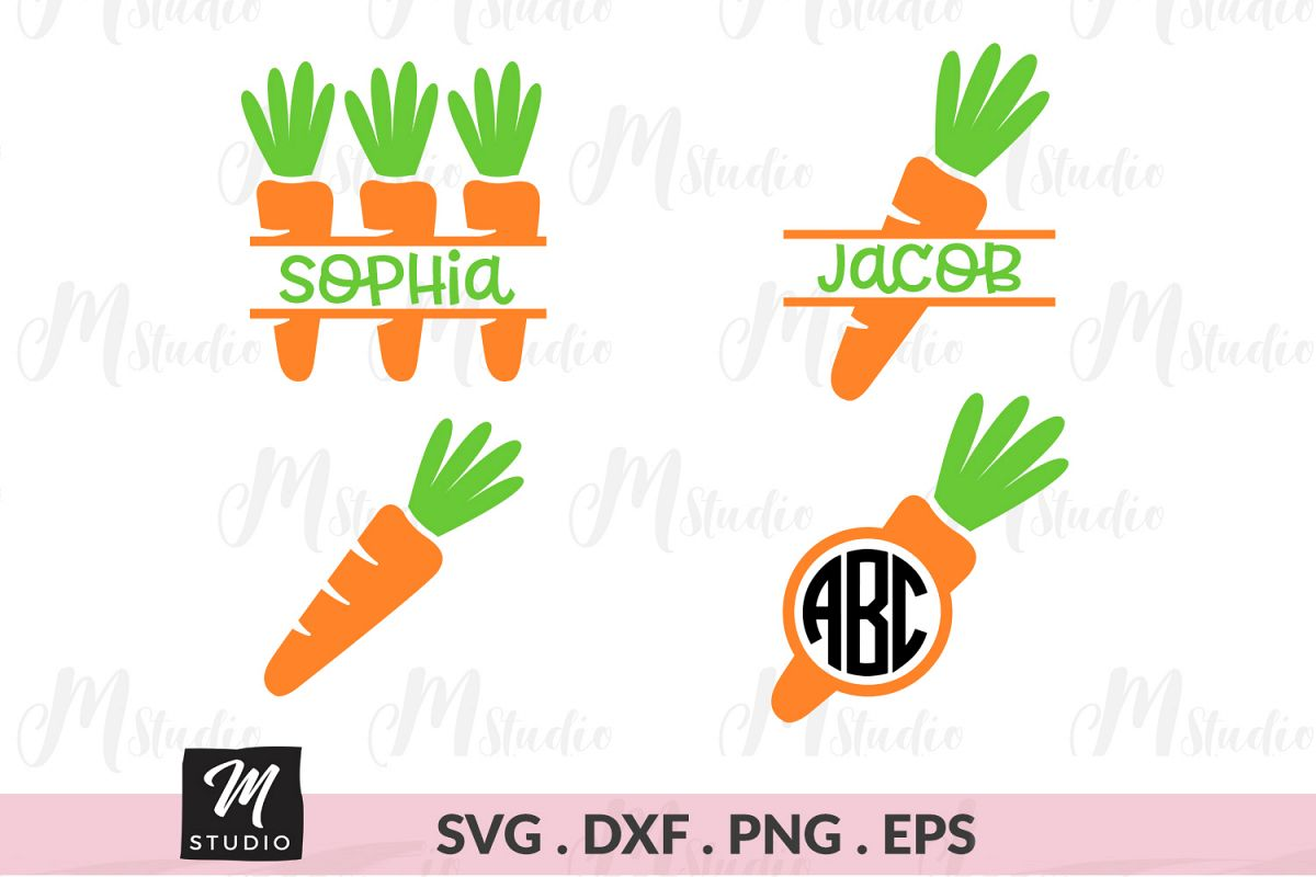 Carrot Monogram svg. example image 1