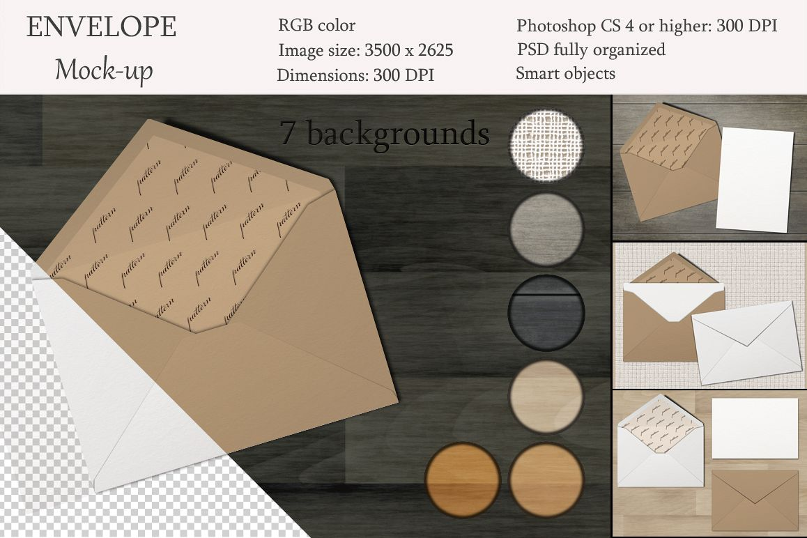 Mockup pack. Greeting Cards & Envelope. example image 1