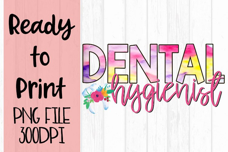 Dental Hygienist Occupations Bright Ready to Print Design example image 1