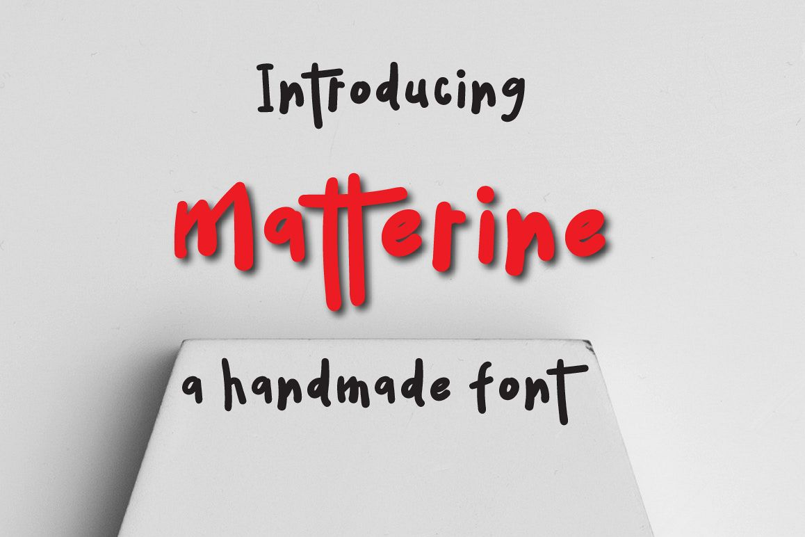Matterine Typeface example image 1