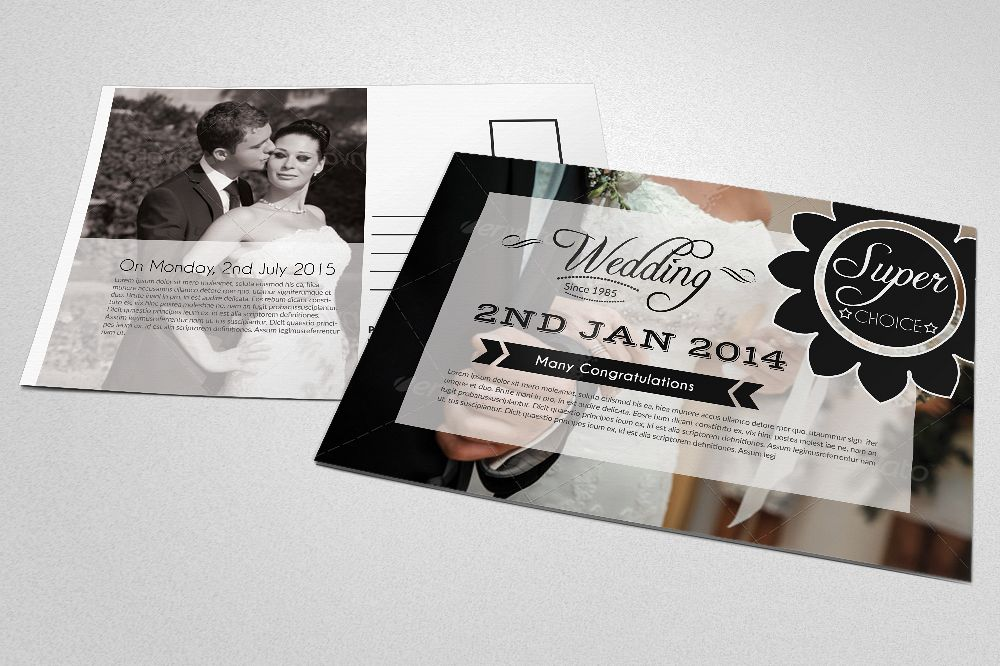Save The Date Wedding Postcards example image 1