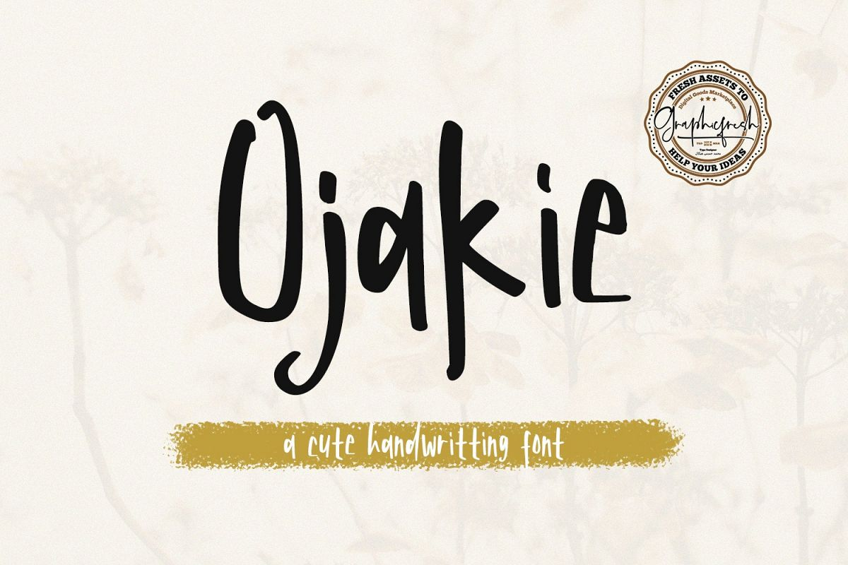 Ojakie - Cute Display Font example image 1