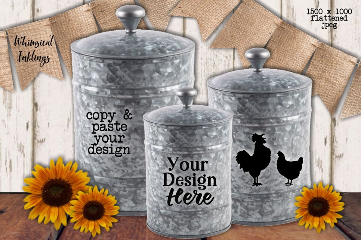 Sunflower Canisters Mock Up example image 1