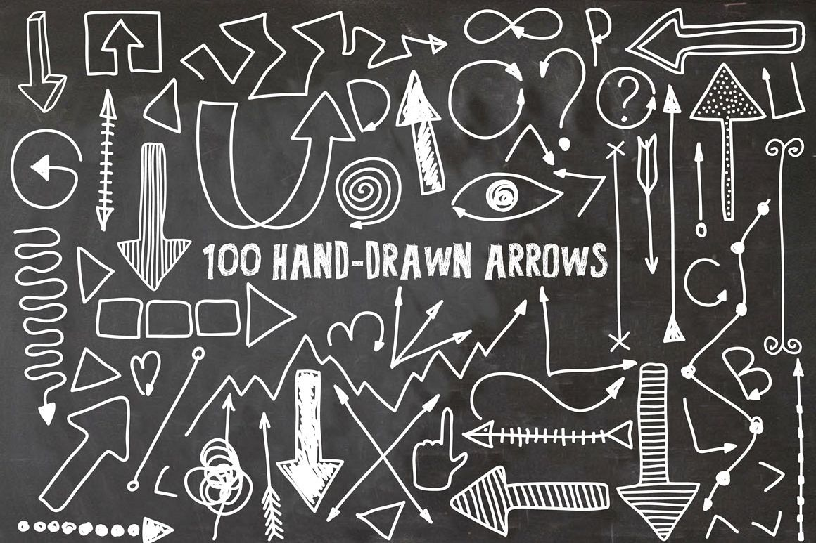 100 Hand Drawn Arrows example image 1