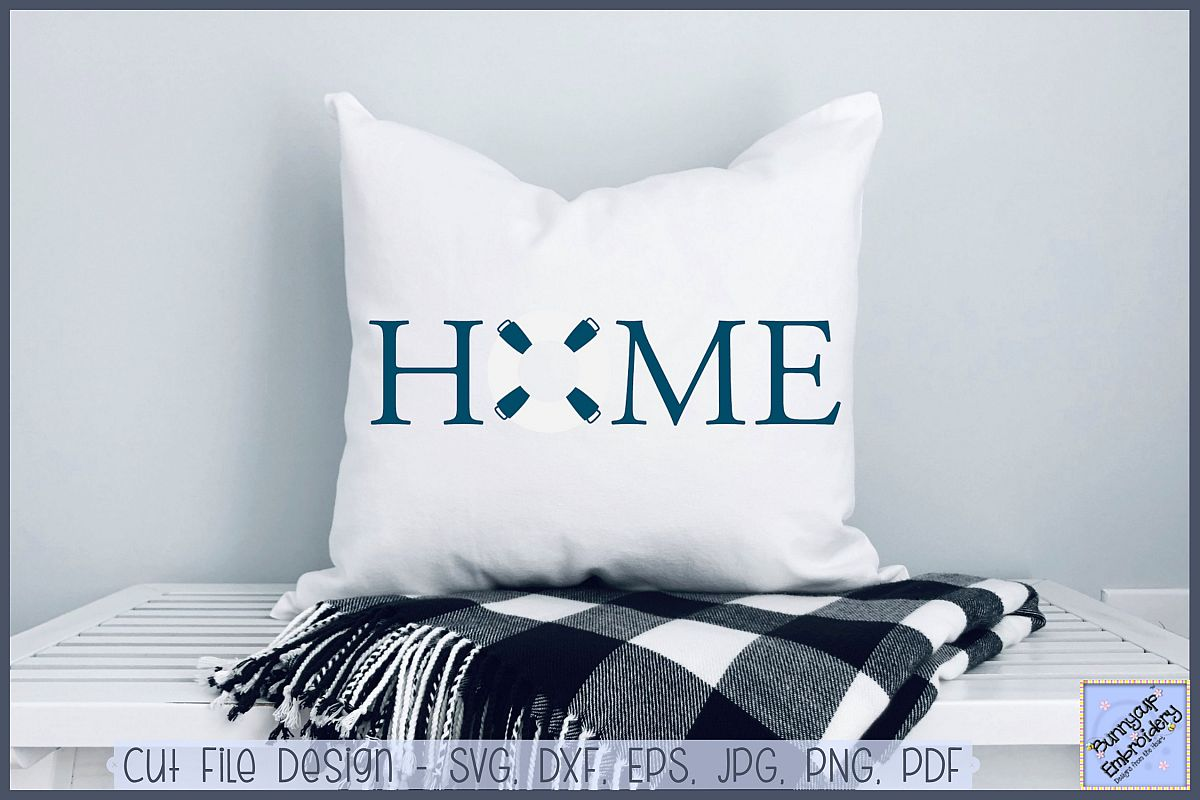 Home With Life Buoy - SVG, Clipart, Printable example image 1