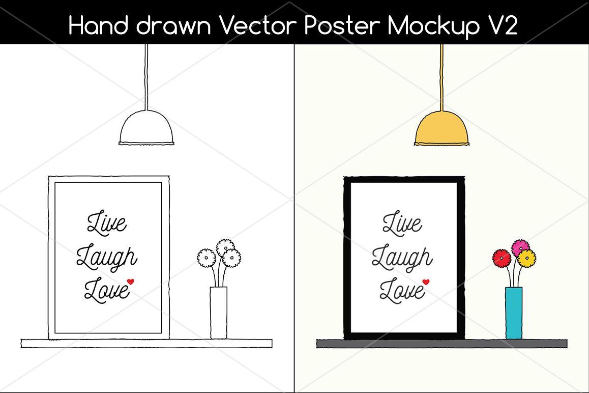 Hand Drawn Poster Mockup v2 example image
