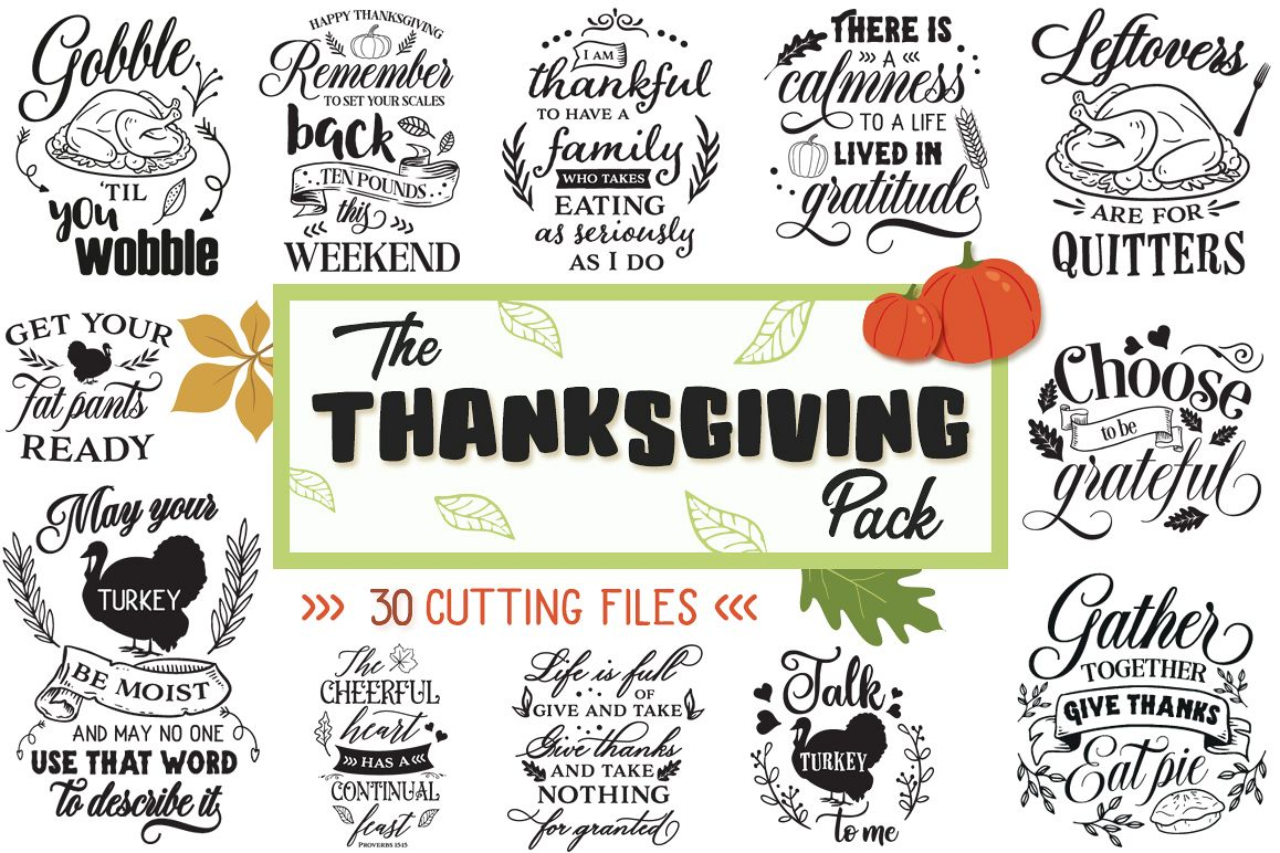 The Thanksgiving Pack - 30 Cut Files example image 1