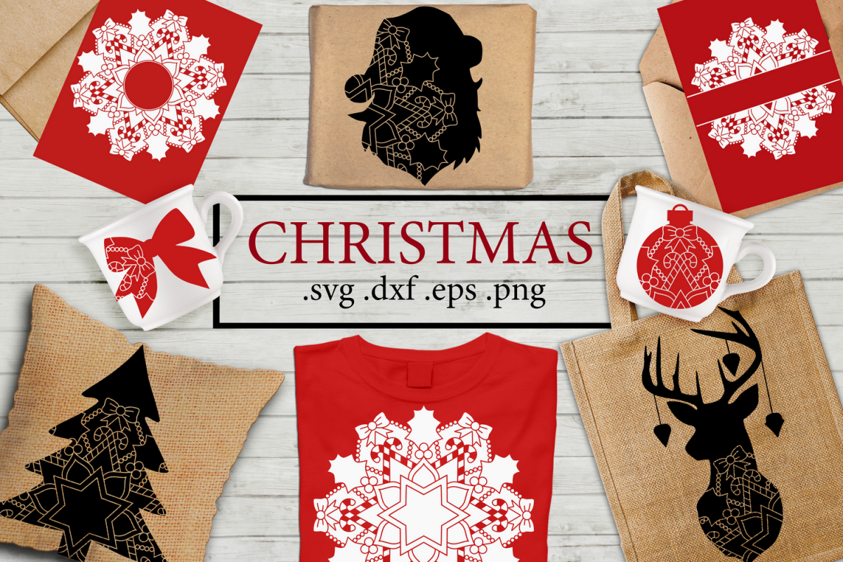 Christmas Bundle svg dxf eps png example image 1