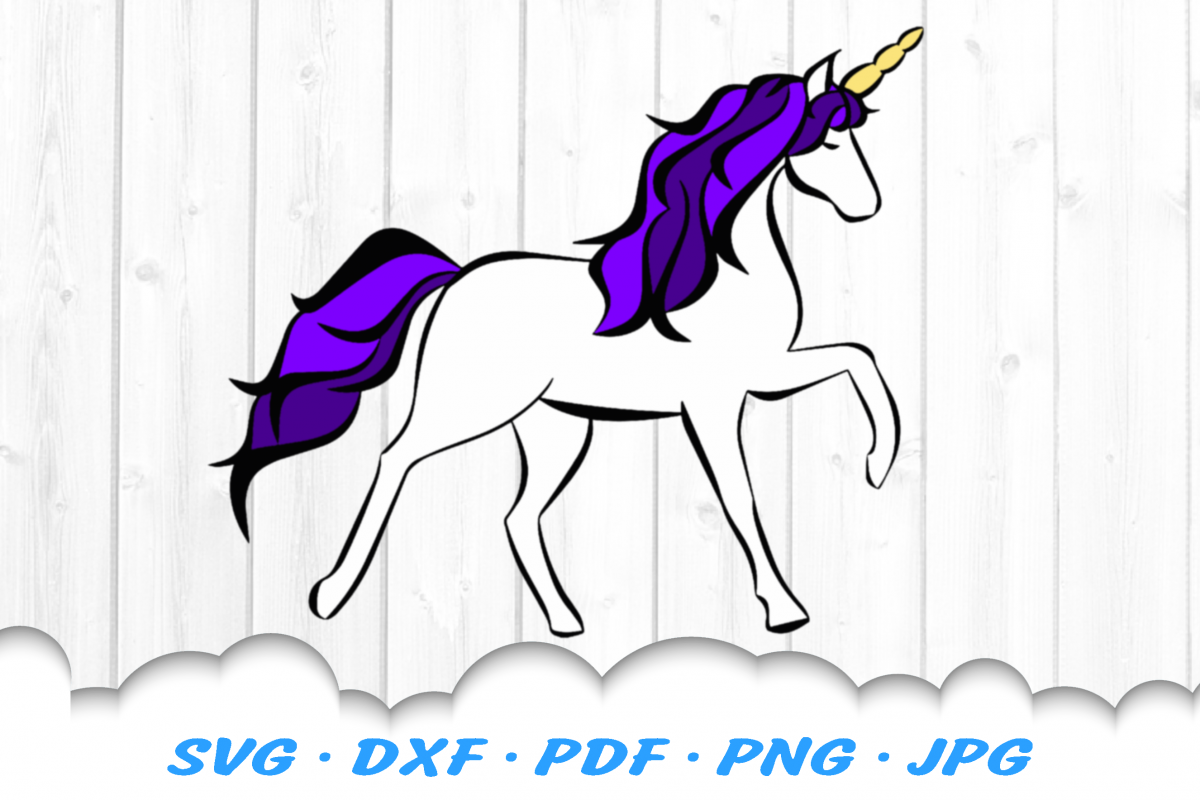 Unicorn Fantasy SVG DXF Cut Files example image 1