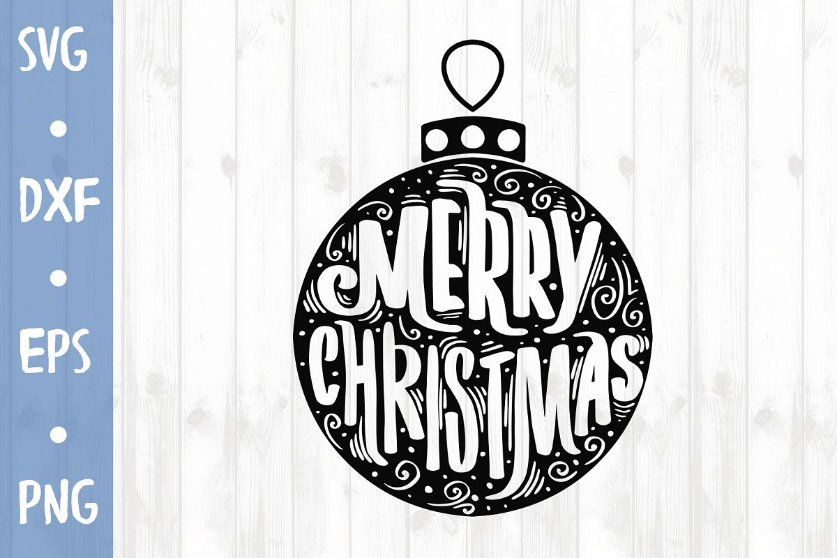 Christmas ball SVG CUT FILE example image 1