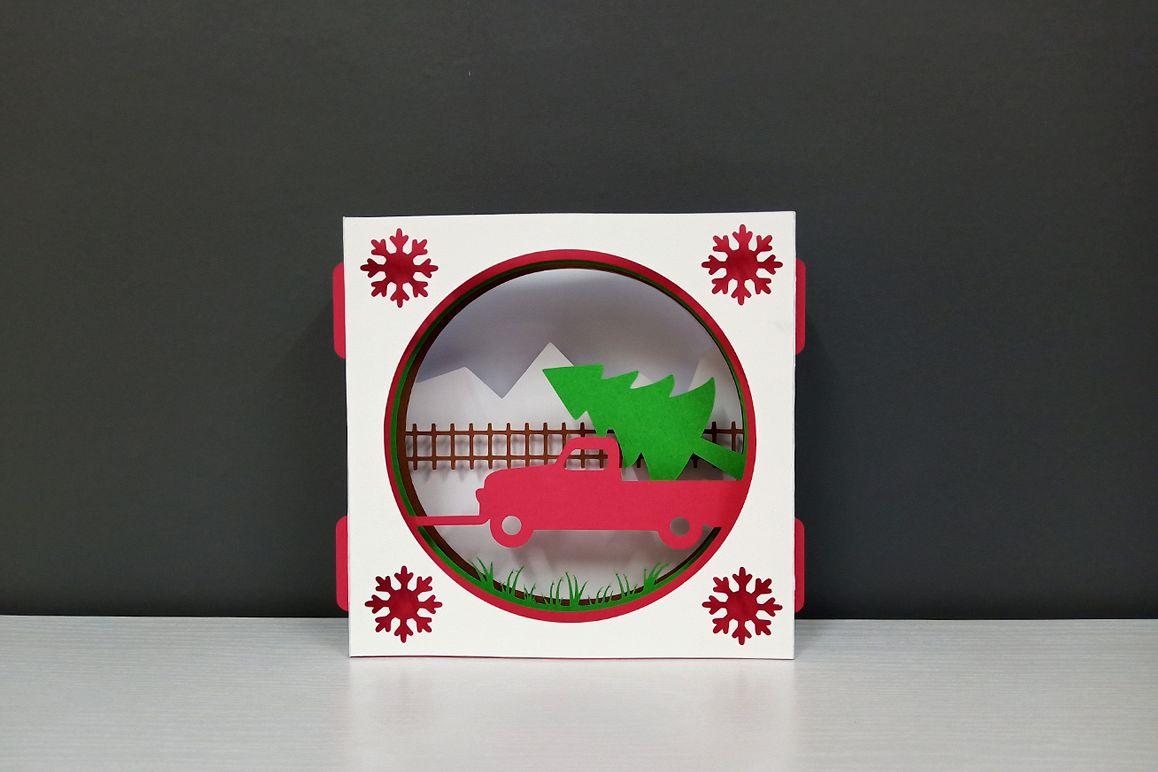 DIY Christmas Card - 3d papercraft example image 1