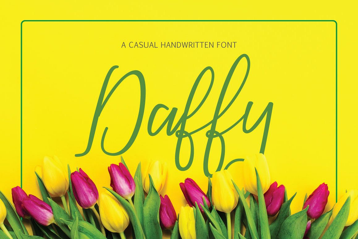 Daffy Font example image 1