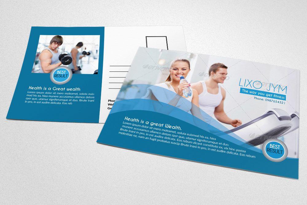 Body Fitness Club Postcard example image 1