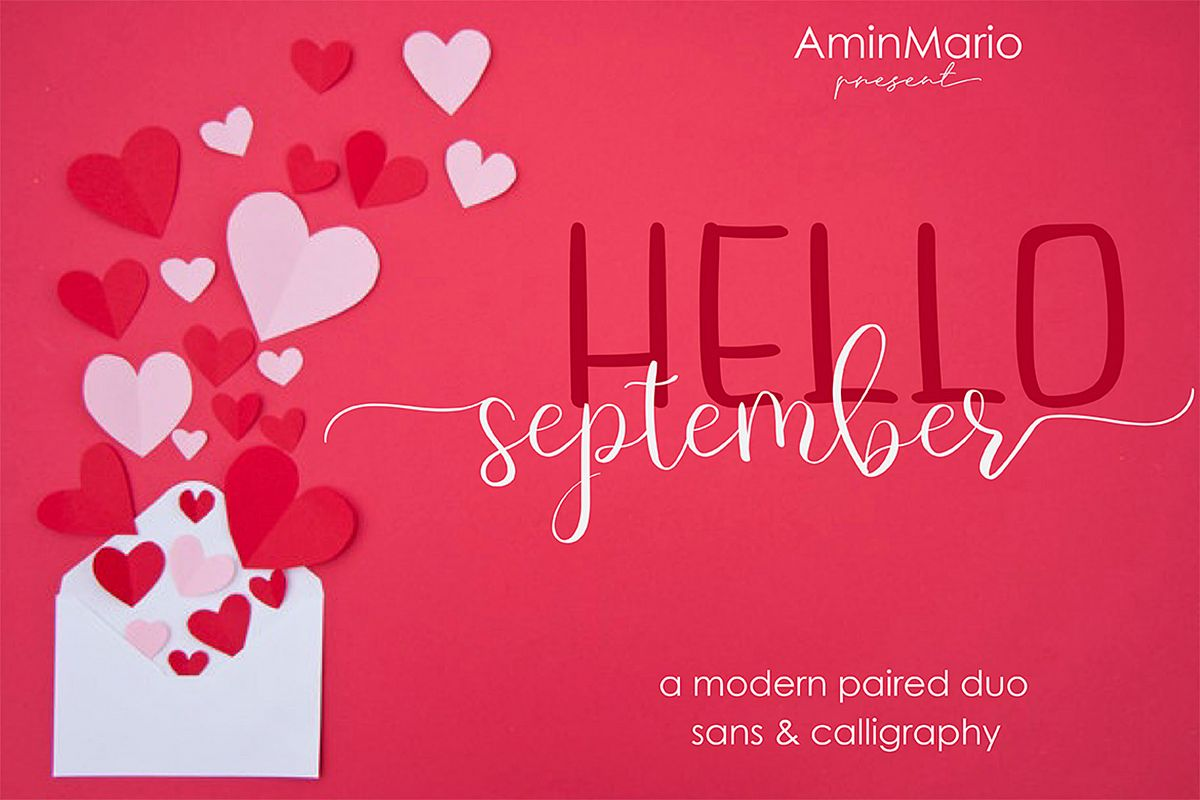Hello September - A MODERN PAIRED DUO example image 1