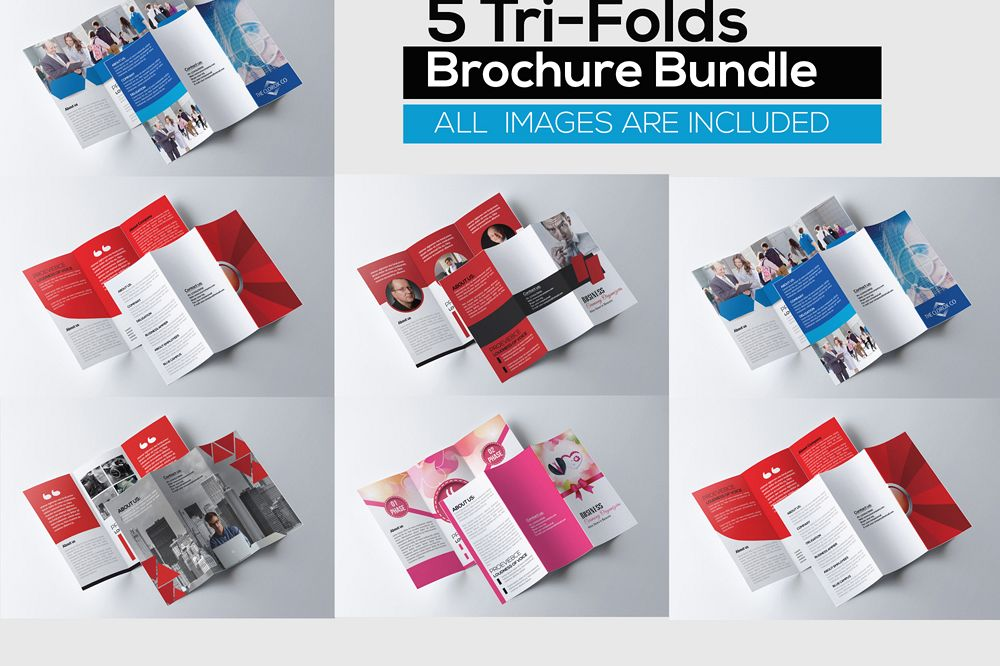 5 Trifolds Brochures Templates Bundle example image 1