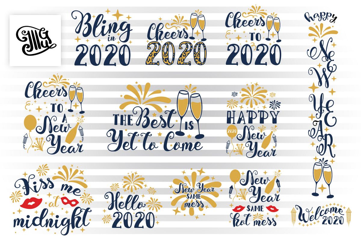 New Year svg bundle example image 1