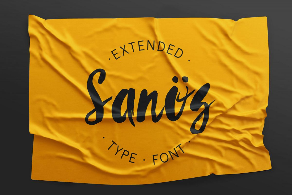Sanös Extended Script Font example image 1