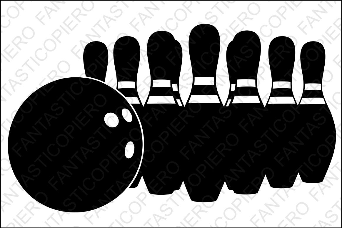 Bowling SVG files for Silhouette and Cricut. example image 1