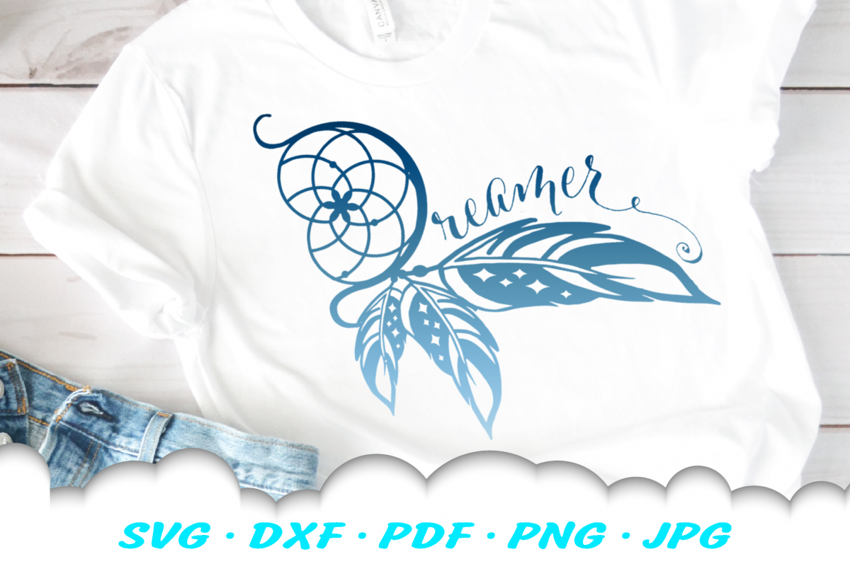 Dream Catcher Dreamer SVG DXF Cut Files example image 1