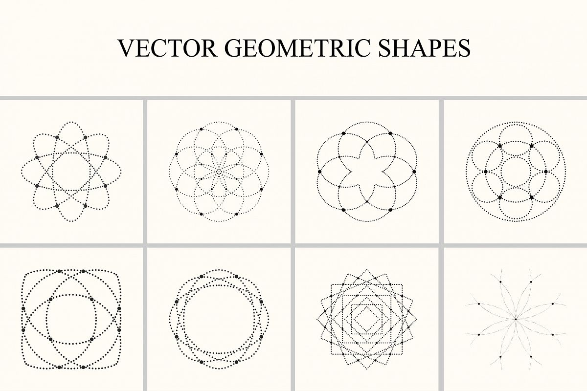 Vector geometric shapes. example image 1