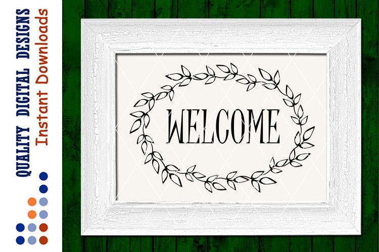 Welcome sign svg files sayings Home decor Vinyl Designs example image 1