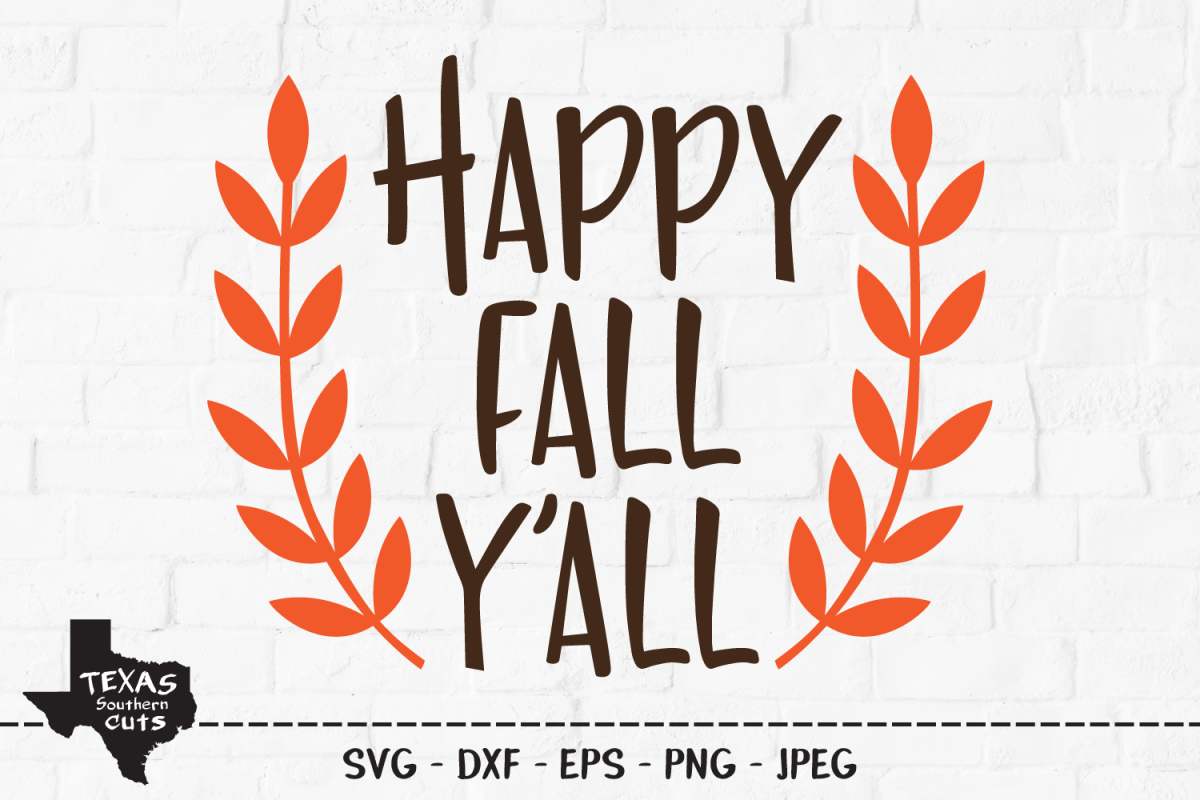 Happy Fall Y'all SVG, Cut File, Fall Shirt Design example image 1