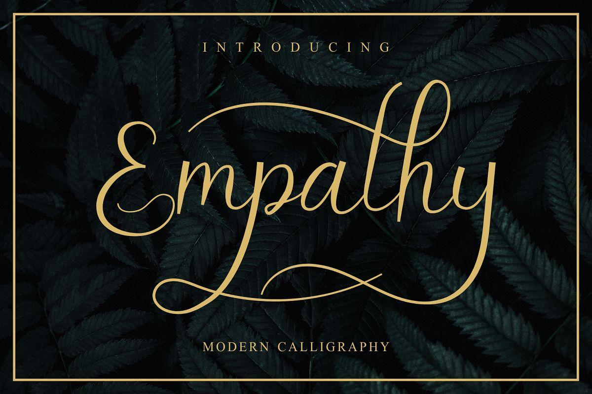 Empathy Modern Script example image 1