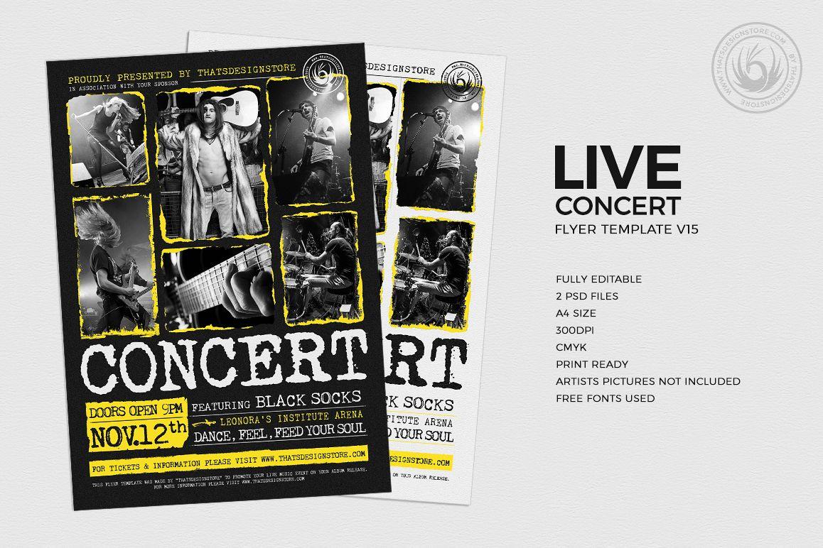 Live Concert Flyer Template V15 Example Image 1