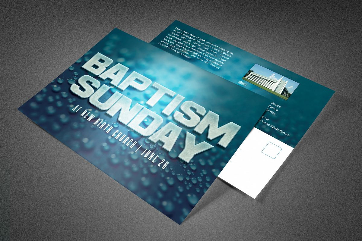 Baptism Sunday Church Postcard example image 1