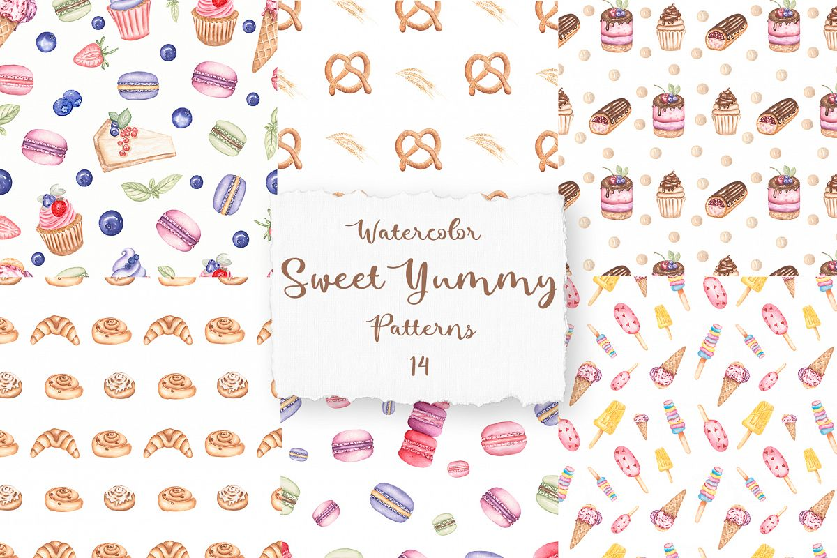 Sweet Yummy Patterns Collection example image 1