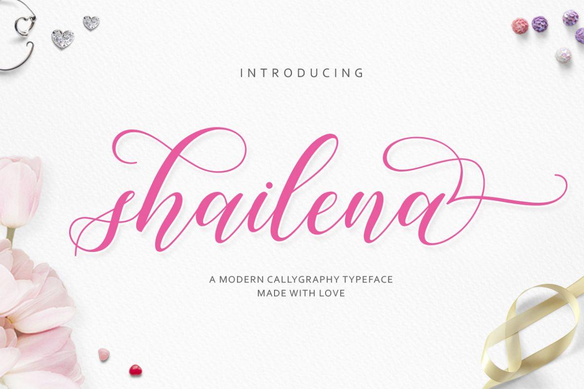 Shailena Script example image 1