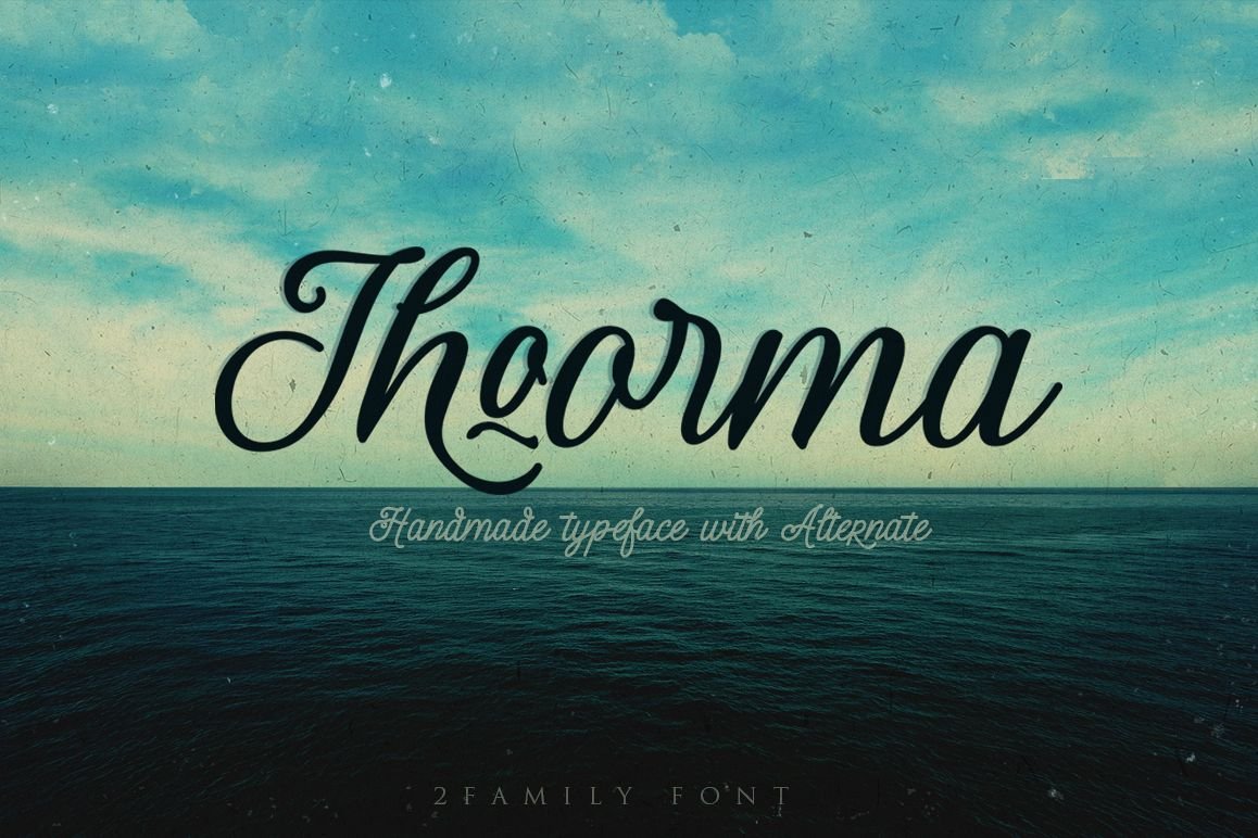 Thoorma 2 Family font example image 1