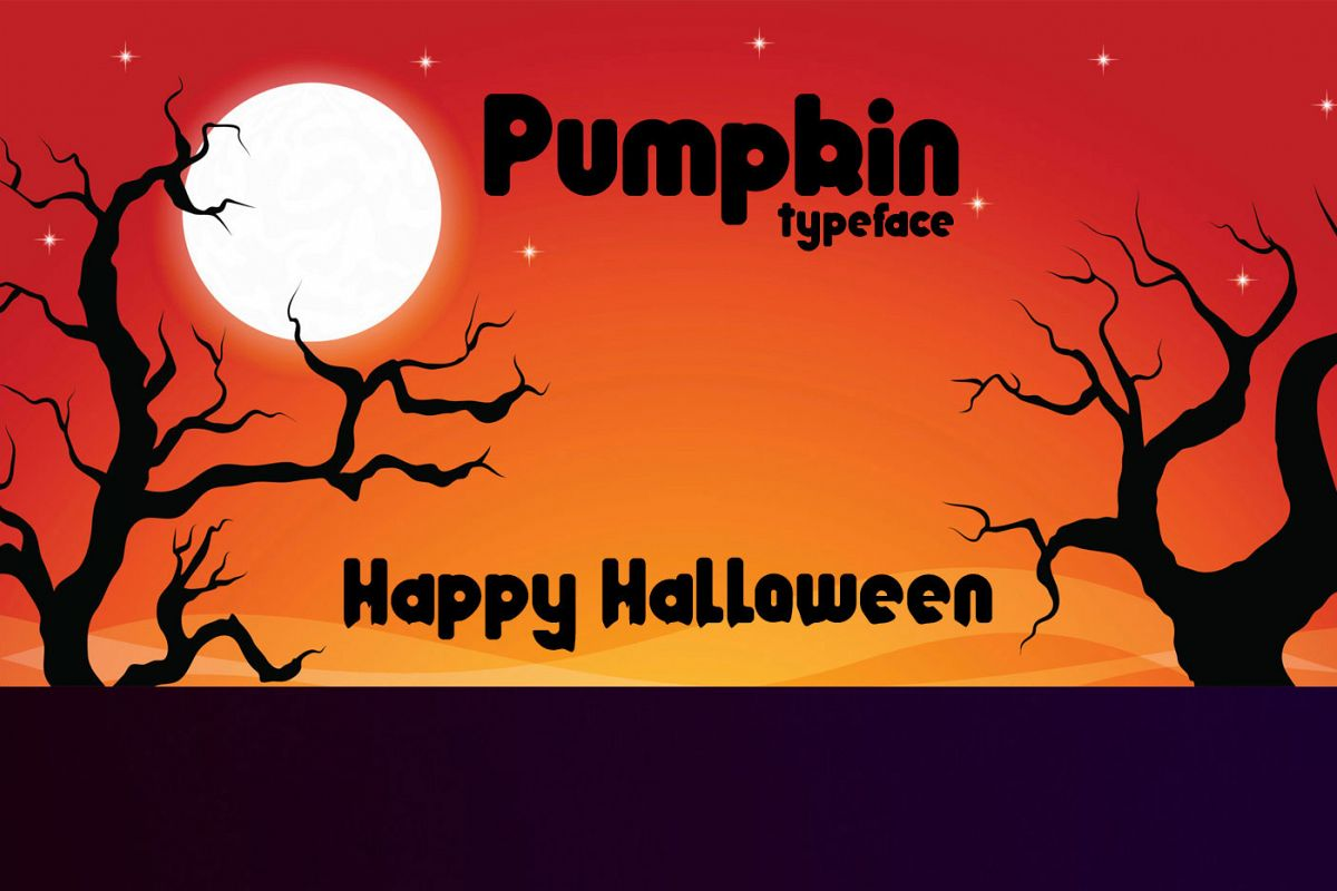 Pumpkin typeface example image 1