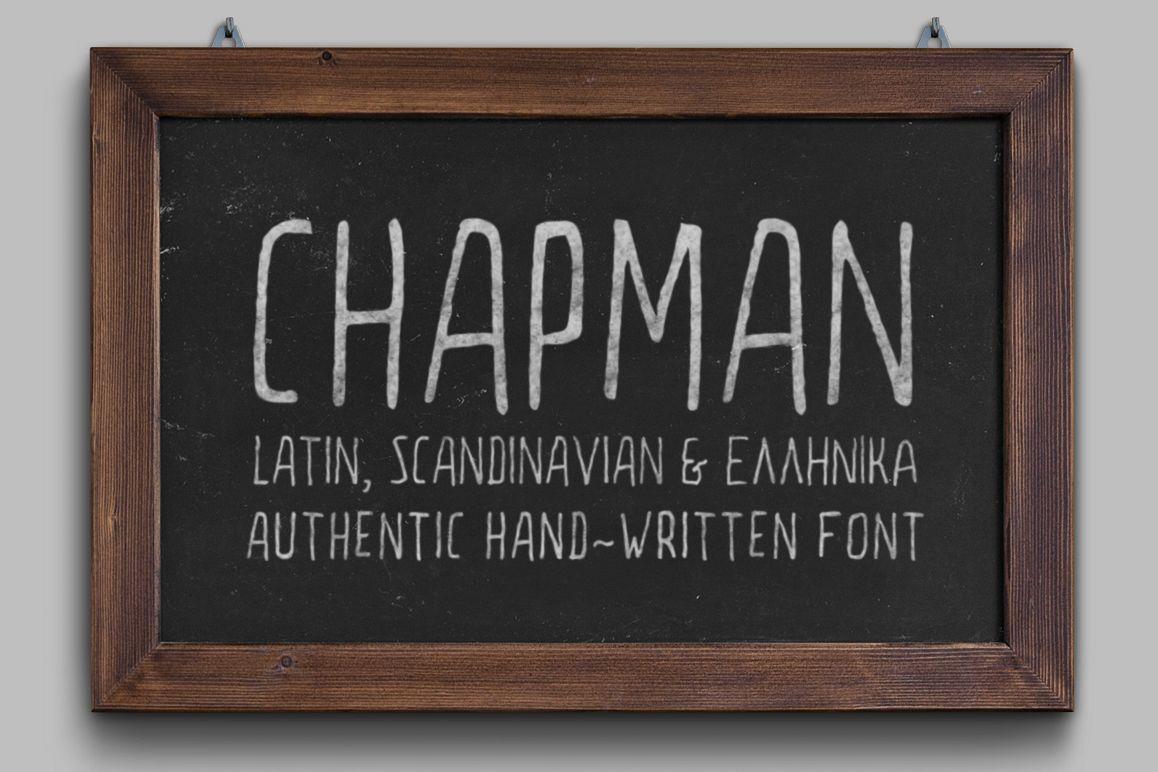 Chapman Handwritten Font example image 1